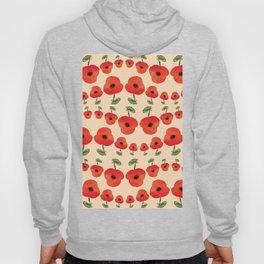 Red poppies dance Hoody