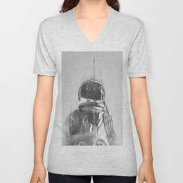 The Space Beyond B&W Astronaut Unisex V-Neck