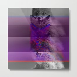 Glitchy Fox pt.1 Metal Print