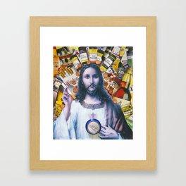 Jesus loves Vice Framed Art Print