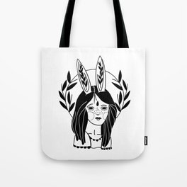 Rabbit Girl Tote Bag