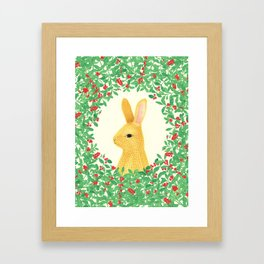 Lingon bunny Framed Art Print