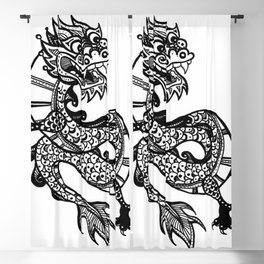 Chinese Dragon Blackout Curtain