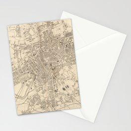 Vintage Map of Leeds England (1851) Stationery Cards