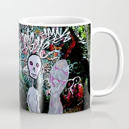 The alien Ghost of Graffiti Rock Coffee Mug