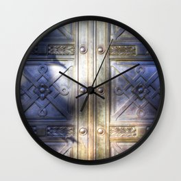 Crypt Door Highgate Cemetery Wall Clock