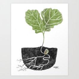 Oak Baby Art Print