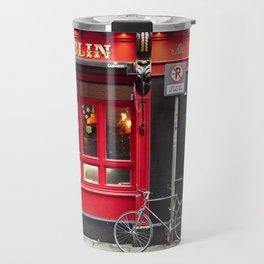 Red Dublin Pub Travel Mug