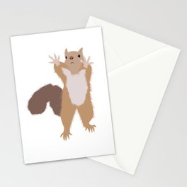 Baesic I Can't Reach Squirrel Stationery Cards