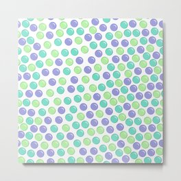 Bubble Drops Pattern Print Metal Print