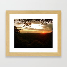 Mountain Tops Framed Art Print