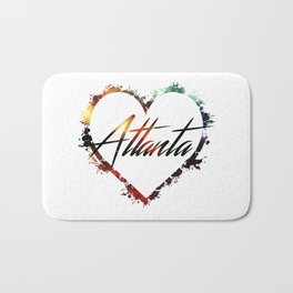 I Love Atlanta Bath Mat