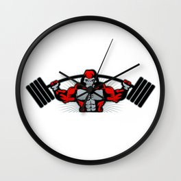 Strong monkey athlete Wall Clock