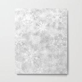 Snowflake Snowstorm Metal Print