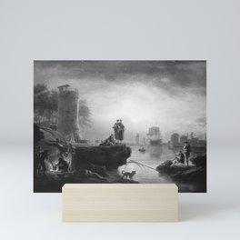 Claude-Joseph Vernet - Seaport at Sunrise Mini Art Print
