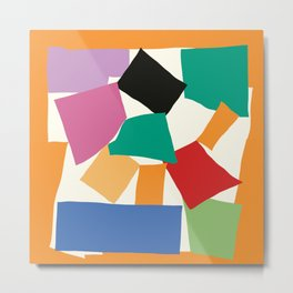 Colorful Collage Matisse Inspired Metal Print