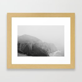 Bixby Bridge in the Fog Framed Art Print