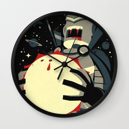 Vampirebot bites the Sun Wall Clock