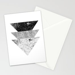Night marble triangles Stationery Cards