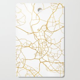 DÜSSELDORF GERMANY CITY STREET MAP ART Cutting Board