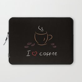 I love coffee Laptop Sleeve