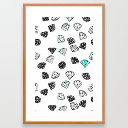 Diamonds On White Framed Art Print