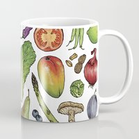 food Mugs featuring Food by Sam Magee