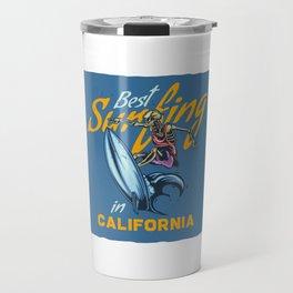 Best Surfing in California Travel Mug