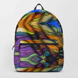 Hand Painted Crepe Stripes in the Wind Backpack
