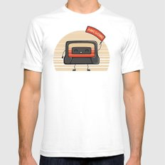 Cute Mix Tape White Mens Fitted Tee SMALL