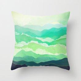 Emerald Spring Throw Pillow
