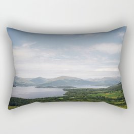 The vast landscape of Loch Lomond on a mild summer's day - Scotland. Rectangular Pillow