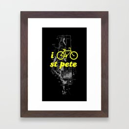 I Bike St. Pete Framed Art Print