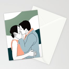 Lovers Kiss Stationery Cards