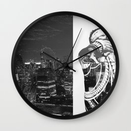 Tattoo and architecture of the city Wall Clock