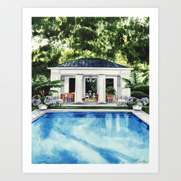 New England Pool House Art Print