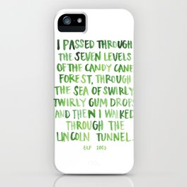 candy cane forest iPhone Case