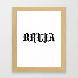 OG Bruja  Framed Art Print