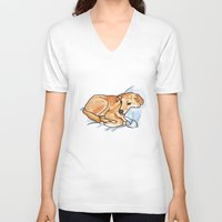 leo V-neck T-shirts featuring Leo by Ken Coleman
