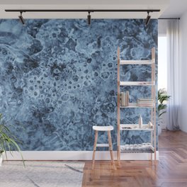Ice crystals blue Wall Mural