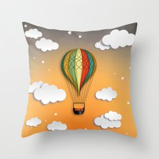 Balloon Aeronautics Dawn Throw Pillow