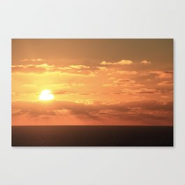 Sunset from a boat Canvas Print