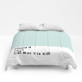 colorblock blue white Comforters