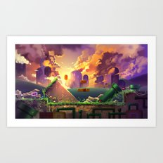Super Mario World Art Print
