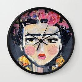 Portrait Inspired by Frida Wall Clock