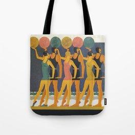 Art Deco Swimwear and Beach Balls Vintage Poster Tote Bag