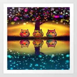 owl 43 Art Print