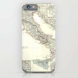 Vintage Map - Spruner-Menke Handatlas (1880) - 22 Italy, 1100 - 1137 iPhone Case