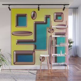 Digital Abstract Design with Embossed Effect Wall Mural