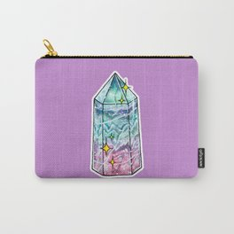 Fluorite Crystal Point Carry-All Pouch